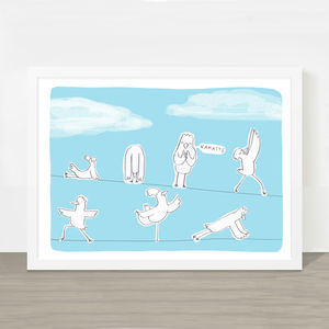 'Bird Yoga' Print - posters & prints