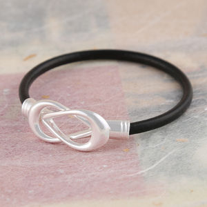 Black Leather Infinity Bracelet - view all sale items