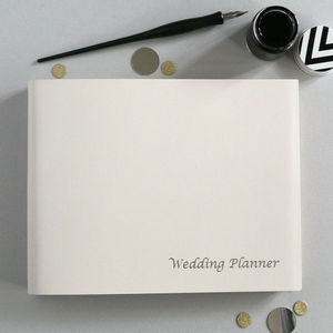 Leather Wedding Planner - engagement gifts