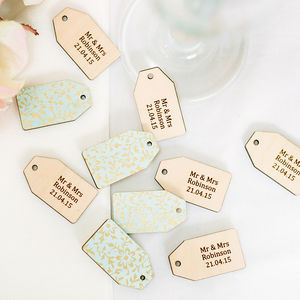 Personalised Wedding Favour Tags, Pack Of 10