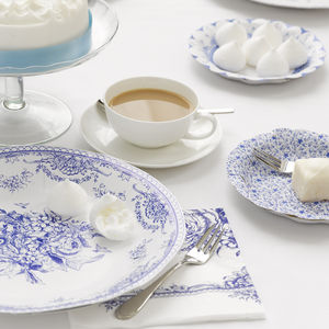 Set Of 20 Party Porcelain Paper Napkins