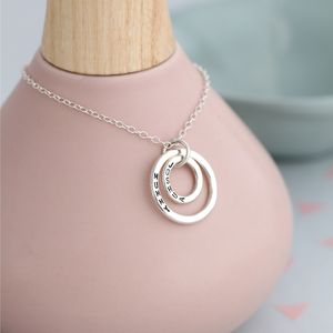 Personalised Silver Hoops Necklace - jewellery gifts for mothers