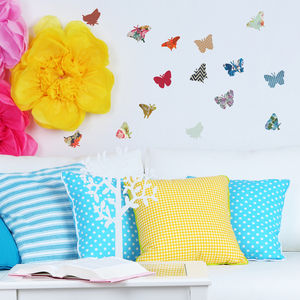 Vintage Style Butterfly Vinyl Wall Stickers - children's room