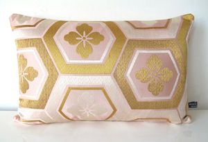 Pink And Gold Kimono Cushion