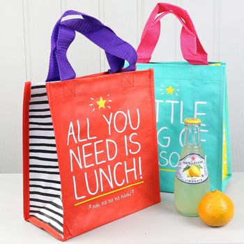 Normal happy jackson lunch tote bag