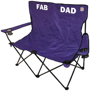 Personalised Outdoor Double Folding Chair - garden furniture