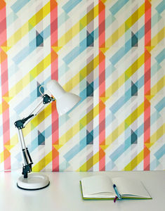 Glasshouse Wallpaper - soft colour pop