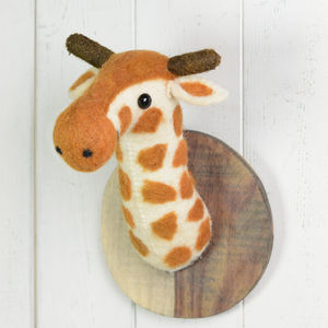 Fairtrade Felt Giraffe Animal Head - children's room