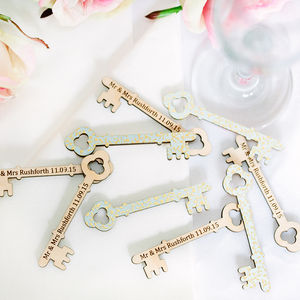 Personalised Keys For Wedding Favours - wedding favours