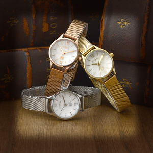 Appleby Stainless Steel Mesh Strap Watch - watches