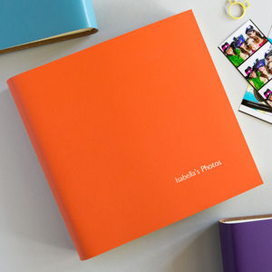 Personalised Square Leather Photo Album - for the couple