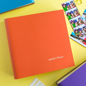 Personalised Square Leather Photo Album