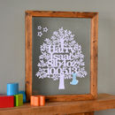 Baby Boy Papercut Tree