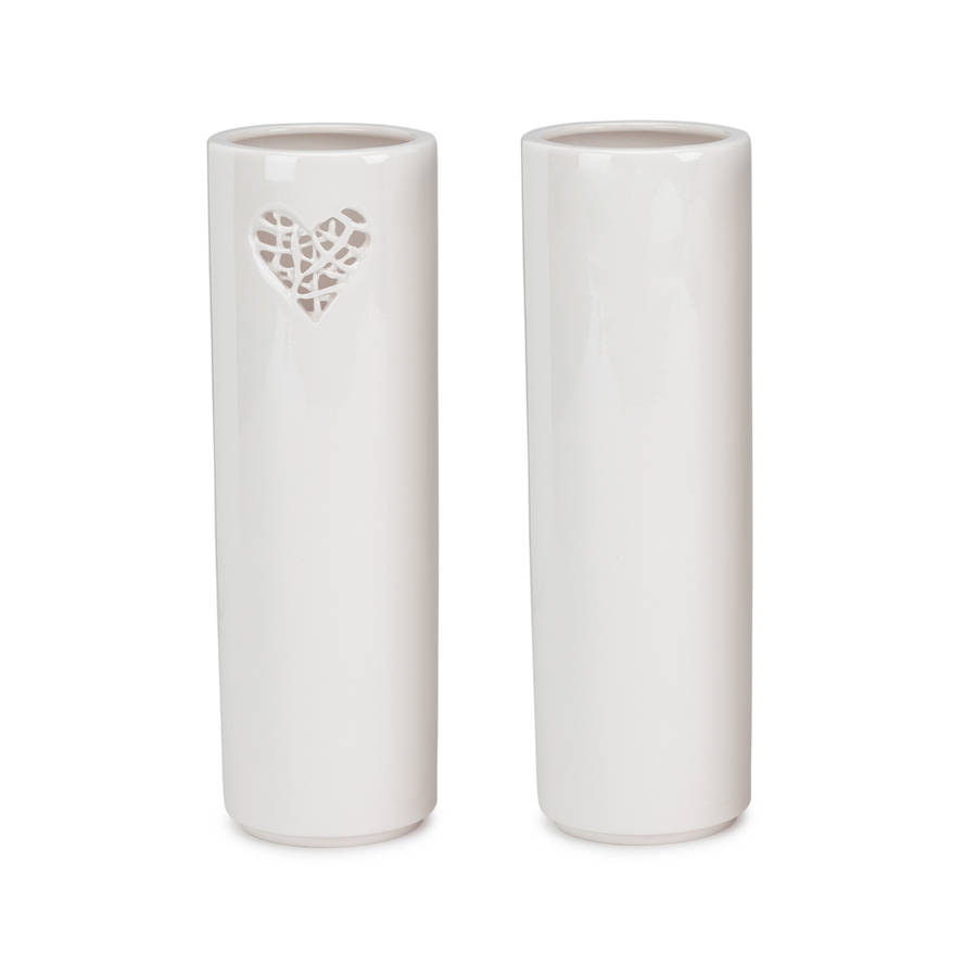 Tangled motif ceramic vase by timea sido contemporary ceramics tangled heart design image showing front and back of vase reviewsmspy