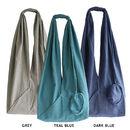 Long Jogi Bag in Grey, Teal Blue and Dark Blue