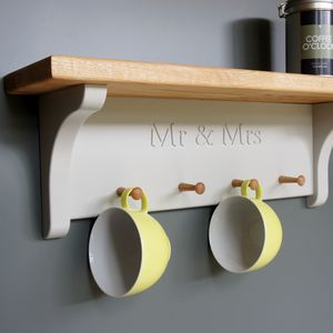 Mrs And Mrs Mug Rack - shelves & racks