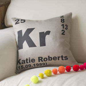 Personalised Periodic Table Cushion - cushions