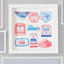 Personalised Retro Travel Tags