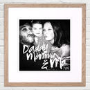 Personalised Selfie print from Letterfest