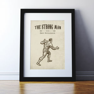 Personalised 'Strong Man' Print - children's room