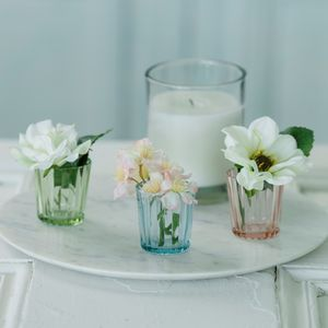 Floral Mini Rib Votive - flowers & plants