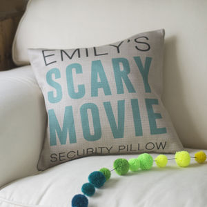 Personalised Scary Movie Security Cushion
