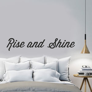 'Rise And Shine' Wall Sticker