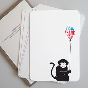 Monkey Thank You Postcards