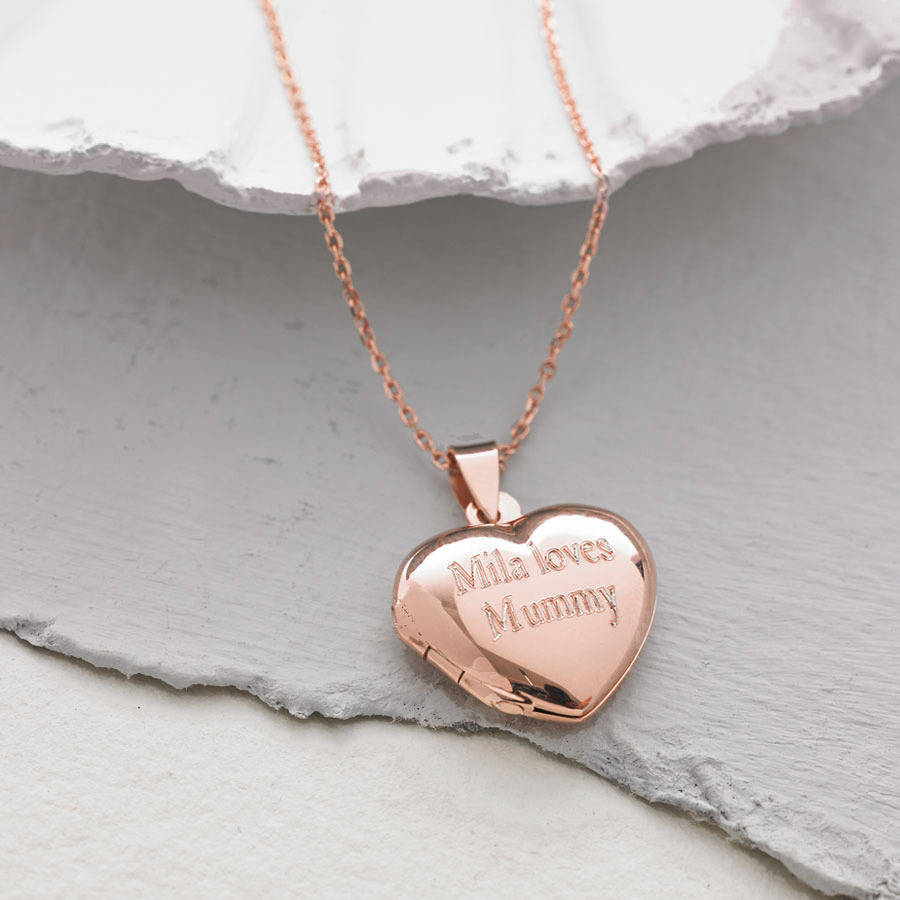 Personalised 18ct rose gold vermeil heart locket by hurleyburley personalised 18ct rose gold vermeil heart locket mozeypictures Gallery