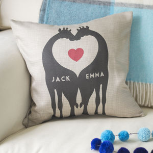 Personalised Giraffe Couples Cushion - view all sale items