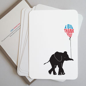 Elephant Thank You Cards - thank you cards