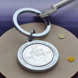 Proud Of Your Dad Personalised Keyring