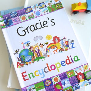 Personalised Childs Gift Boxed Encyclopedia Book - books
