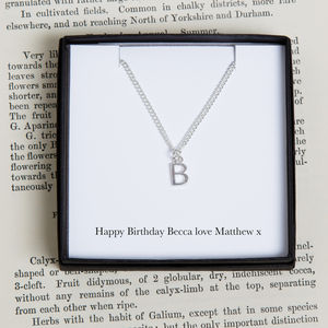 Personalised Initial Charm Necklace - children's accessories
