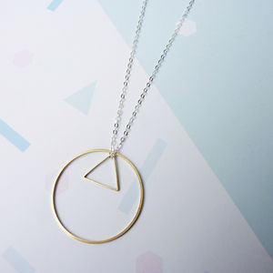 Circle And Triangle Necklace - geometric shapes