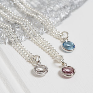 Personalised Swarovski Birthstone Necklace - necklaces