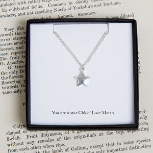 Personalised Silver Star Necklace - necklaces & pendants
