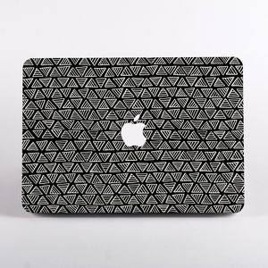 Triangle Print Hard Case For Mac Book - laptop bags & cases