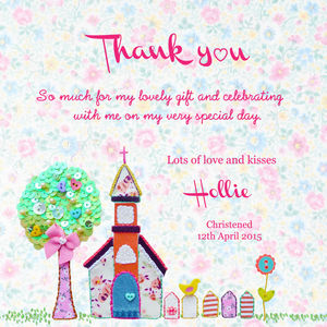 Thank You Christening, Baptism, Dedication Flat Cards - thank you cards