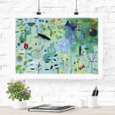 Blue Garden Children's Fine Art Print