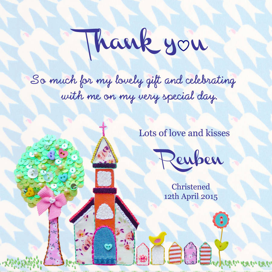 Thank You Christening Baptism Dedication Flat Cards By Buttongirl