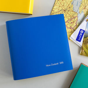 Personalised Leather Holiday Album - travel journals & diaries