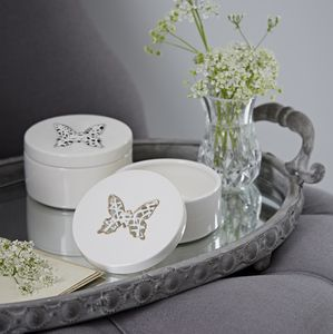 Tangled Butterfly Ceramic Trinket Box
