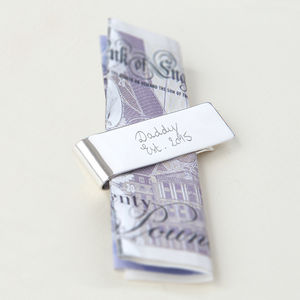 Dad's Personalised Sterling Silver Money Clip