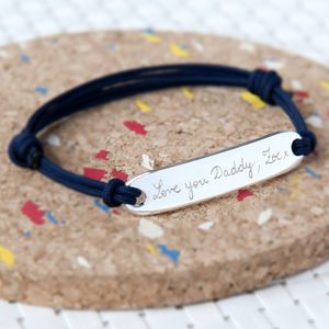 Father's Personalised Sterling Silver Identity Bracelet - gifts for fathers