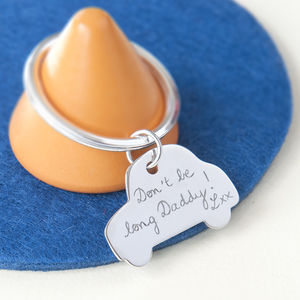 Daddy's Personalised Sterling Silver Car Key Ring - gifts for fathers