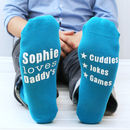 Personalised Men's Love You Because Socks