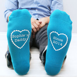 Personalised 'Daddy Since' Men's Socks - gifts for fathers
