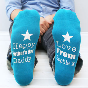 Personalised Father's Day Men's Socks