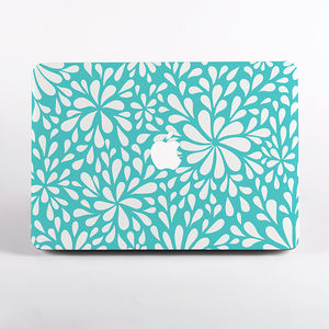Floral Confetti Print Hard Case For Mac Book - laptop bags & cases